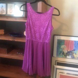 Purple forever 21 dress.